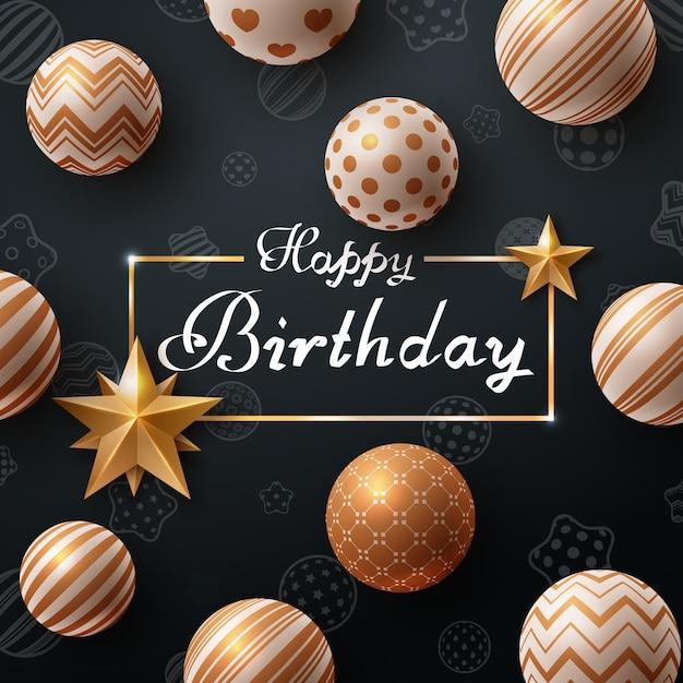 Happy birthday Premium Vector