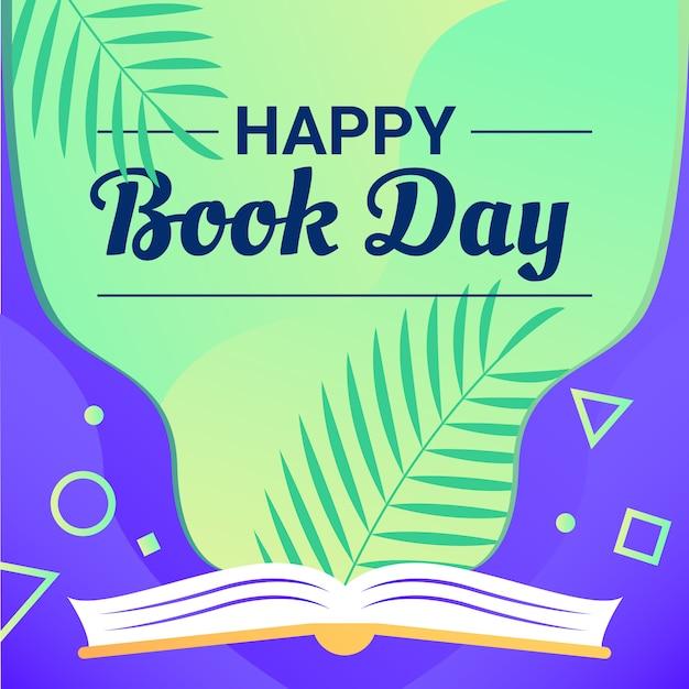 Happy book day background Premium Vector