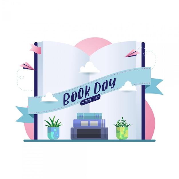 Happy book day vector background Premium Vector