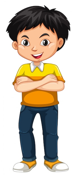 Clipart of a Black and White Safari Boy Standing with His ... |Clipart Boy Standing