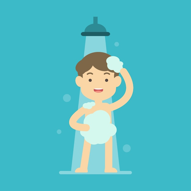 boy and girl taking shower pics
