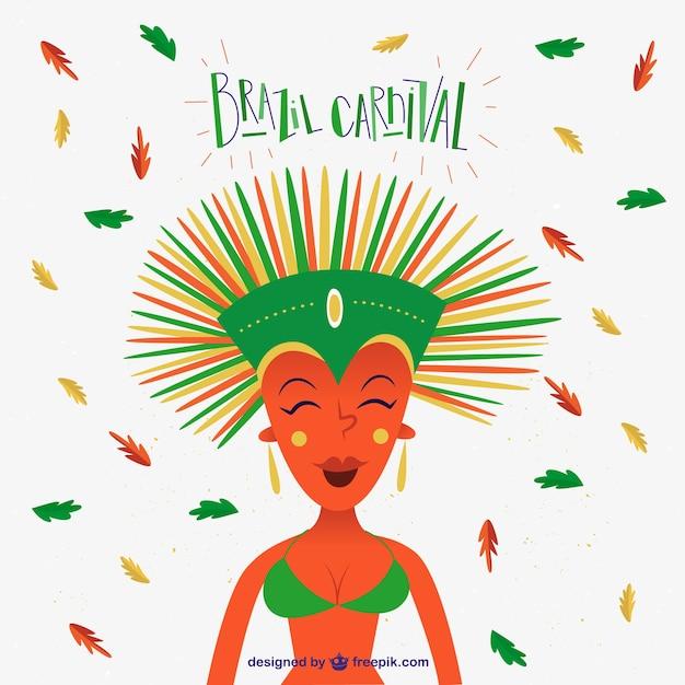Happy brazilian dancer in Brazil\ carnival