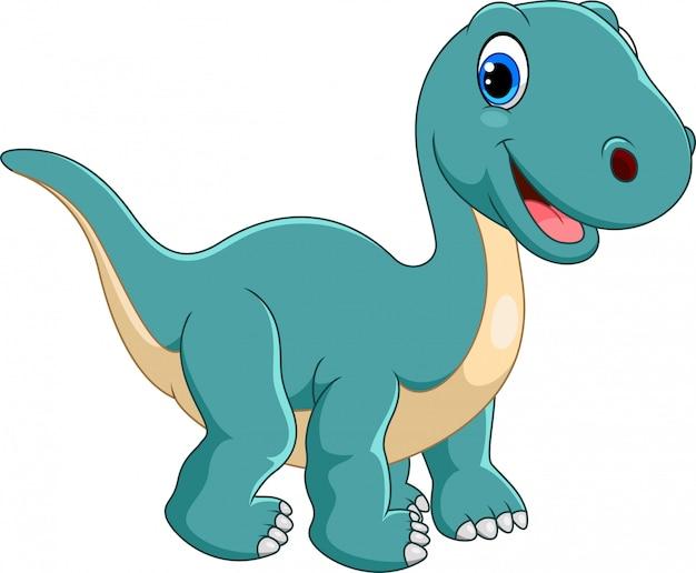 Happy brontosaurus cartoon | Premium Vector