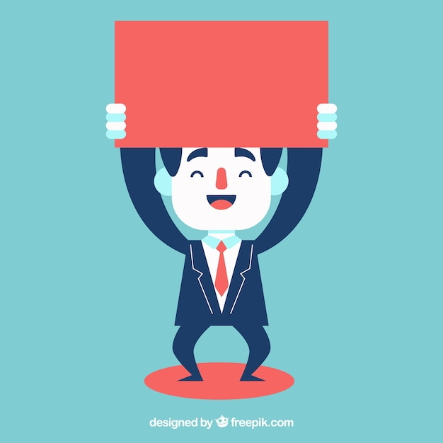 Happy businessman Free Vector