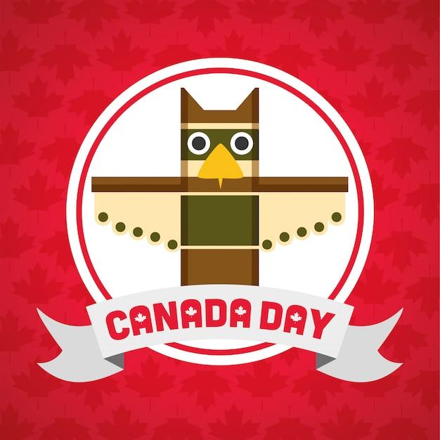 Happy canada day concept Free Vector