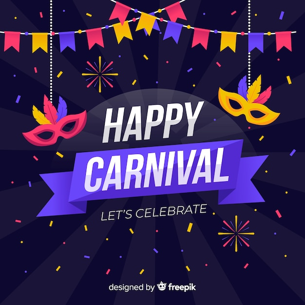 Happy carnival Free Vector