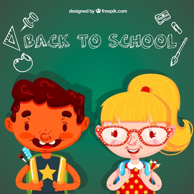 Happy children back in the school