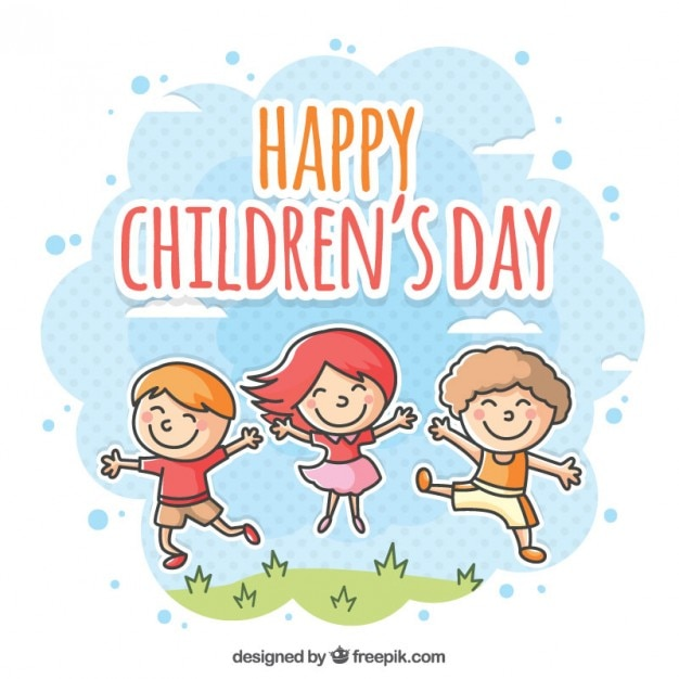 Happy children's day illustration Vector | Free Download