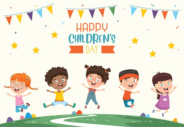 Happy children's day Premium Vector