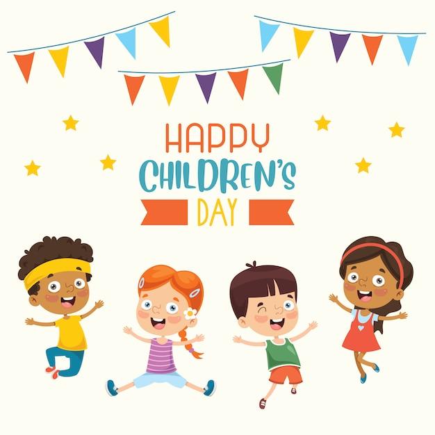 Happy children's day Premium Vector