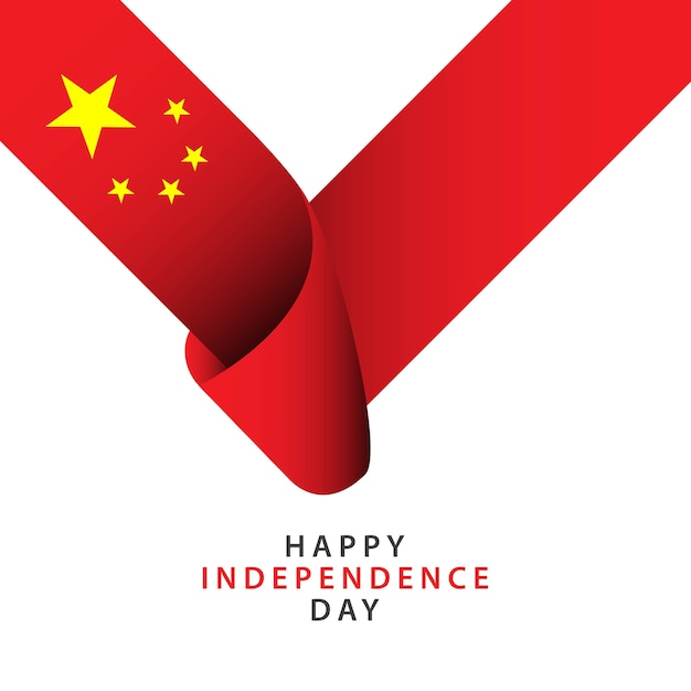 Happy china independence day vector template Vector