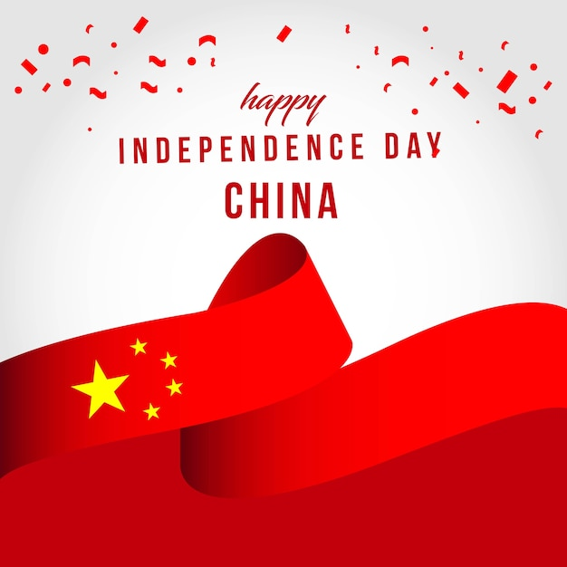 Happy china independent day vector template design Vector