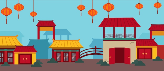 Happy chinese new year card set Premium Vector