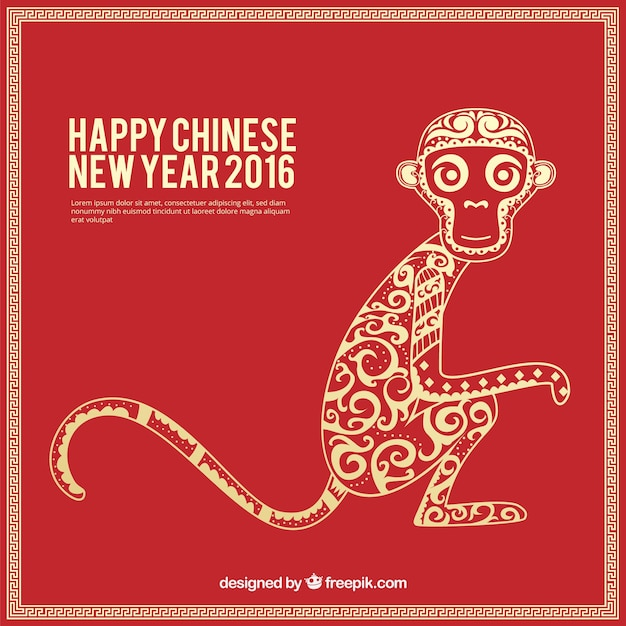 Happy chinese new year original background Vector  Free Download