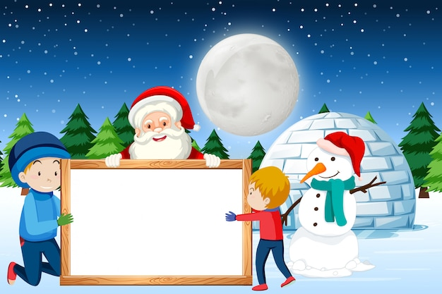 A happy christmas banner background Premium Vector