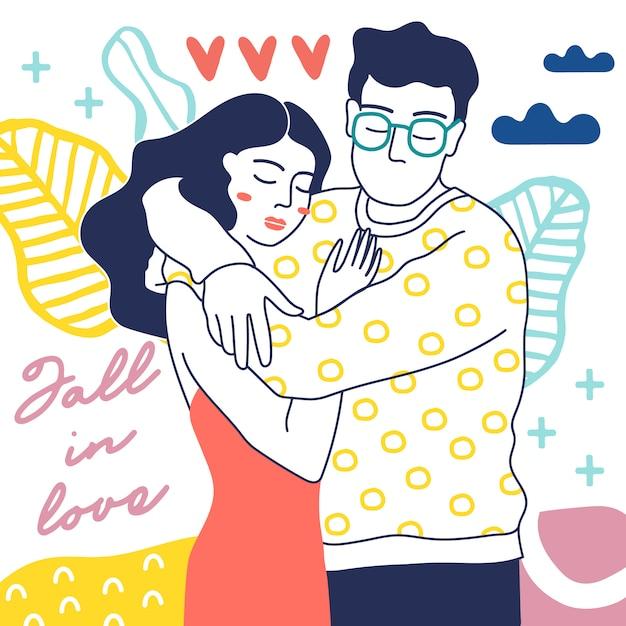 Happy couple Premium Vector
