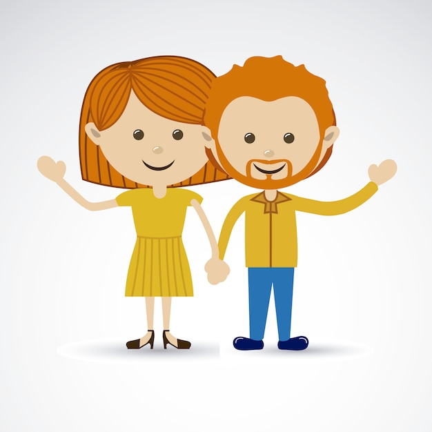 Happy couple Premium Vector