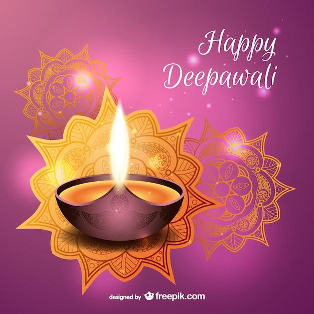 Happy Deepawali vector Free Vector