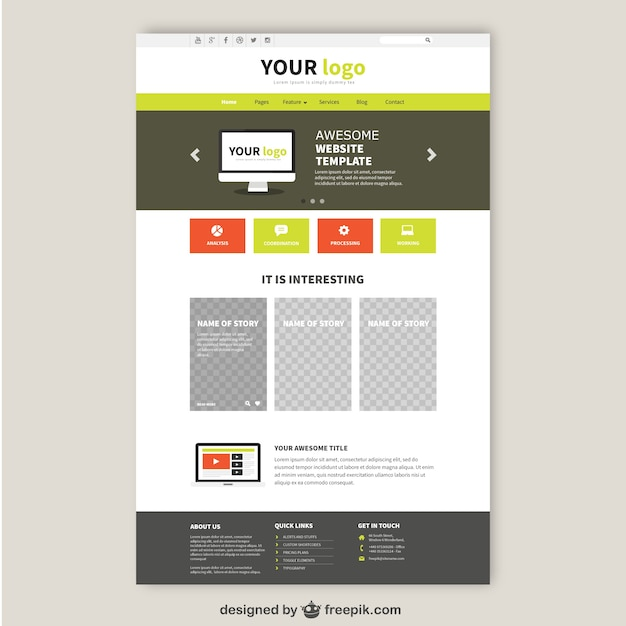 happy design for website template vector free download