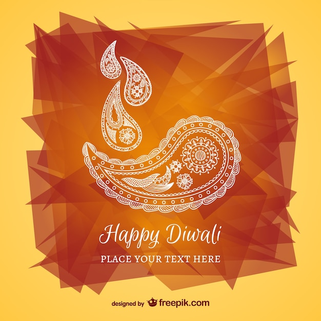 Happy Diwali Abstract Card Vector Free Download