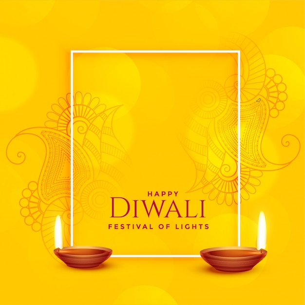 Happy diwali background Free Vector