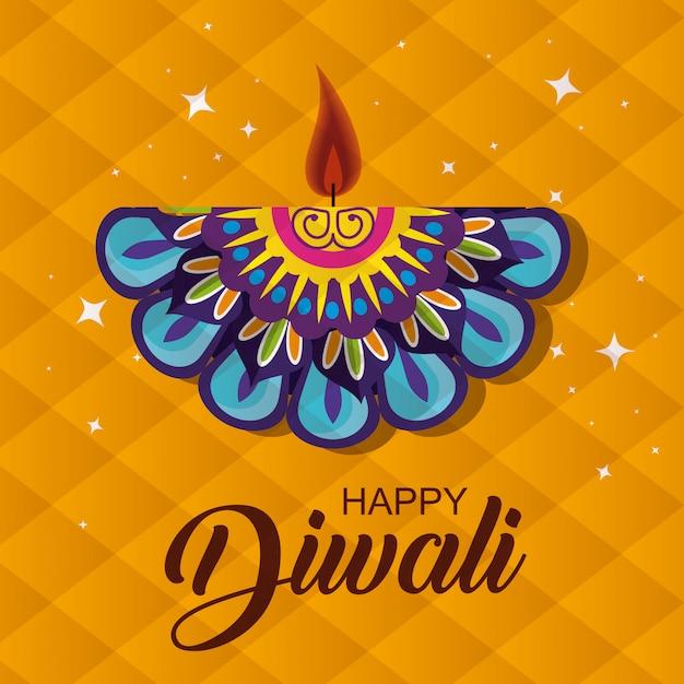 Happy diwali background Free Vector