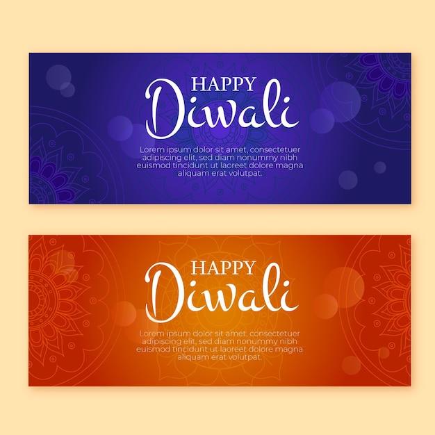 Modello web banner di diwali felice Vettore gratuito