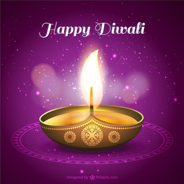 Happy diwali card with candle vector free download happy diwali card with candle free vector m4hsunfo