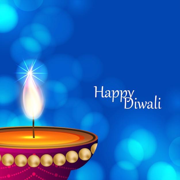 Happy diwali creative design Free Vector