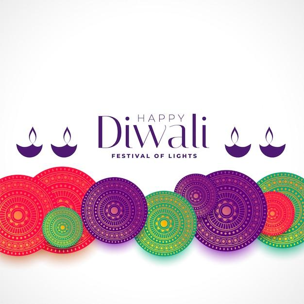 Happy diwali decorative  background Free Vector