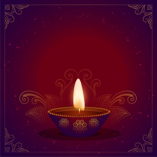 Happy diwali festival card Free Vector