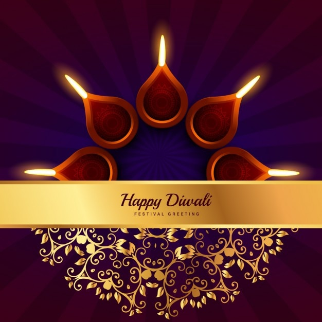 Happy diwali greeting with golden banner vector free download happy diwali greeting with golden banner free vector m4hsunfo
