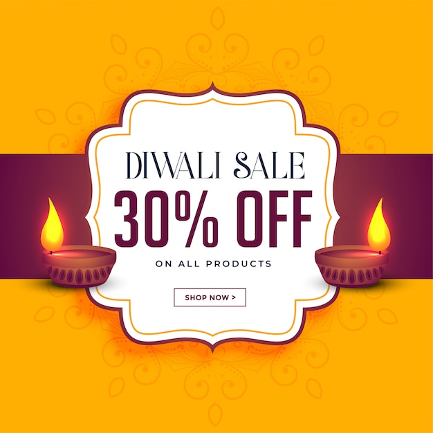 Happy diwali sale and offer template Free Vector