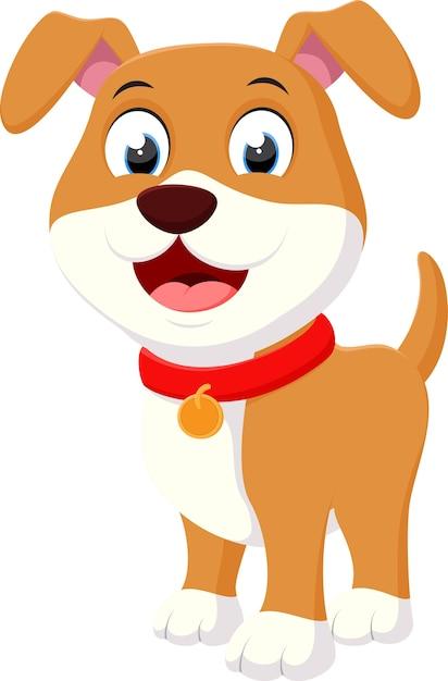 Happy dog cartoon | Premium Vector