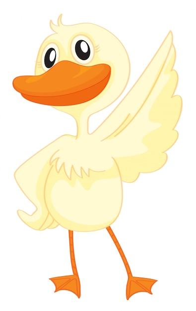 A happy duck Free Vector