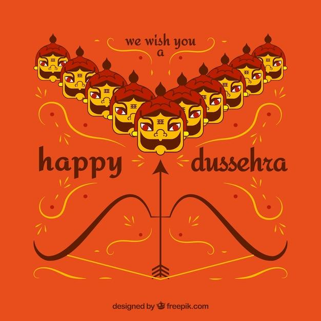 Happy dussehra background Free Vector