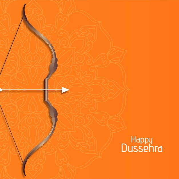 Happy dussehra cultural festival background vector Free Vector