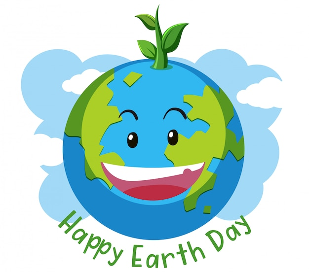 Happy earth day concept Premium Vector