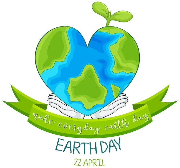 Happy earth day Free Vector