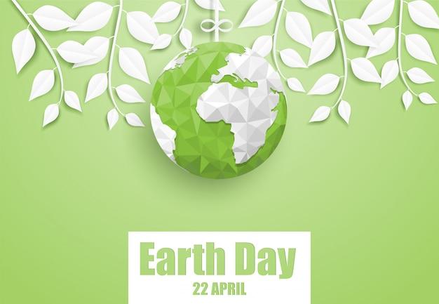 Happy earth day Premium Vector