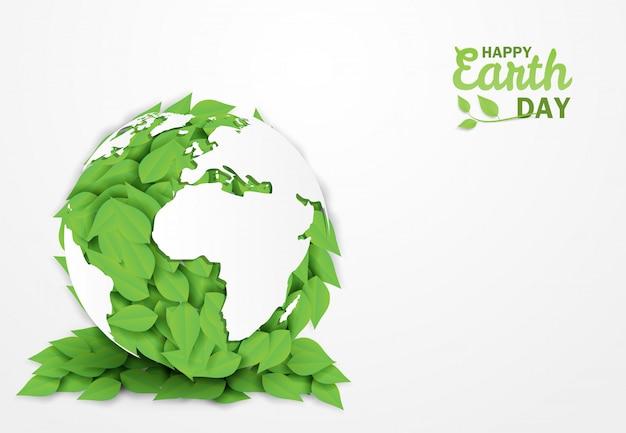 Happy earth day. Premium Vector