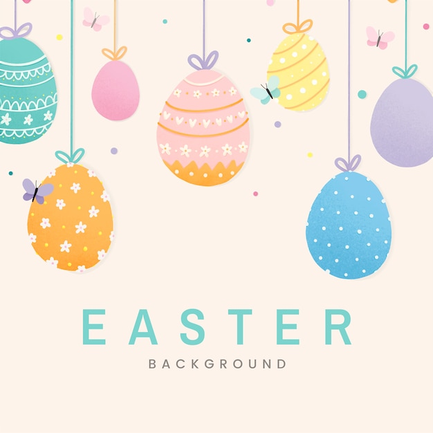 Happy easter 2019 background vector Free Vector