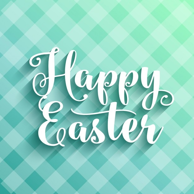Happy Easter background with decorative\ typography