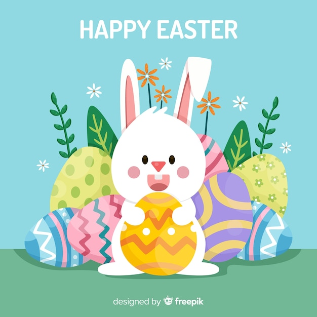 Happy easter background Free Vector