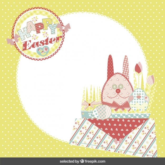 Happy easter card in scrapbook style