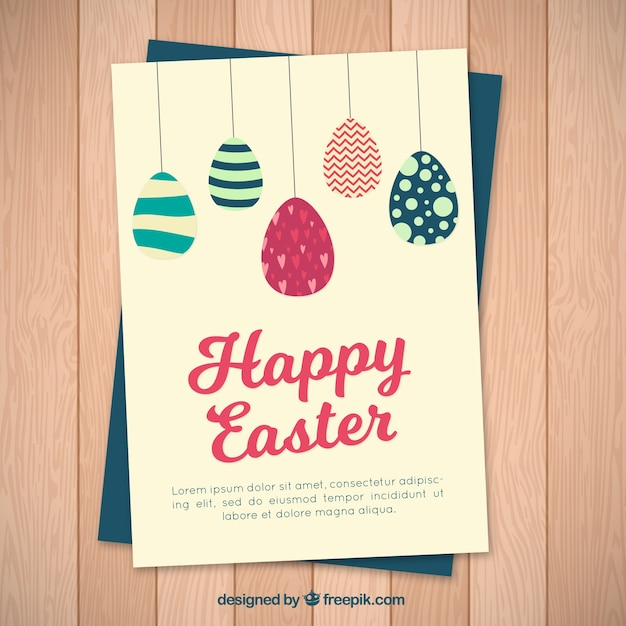 Happy easter card in vintage style Vector – Happy Easter Card