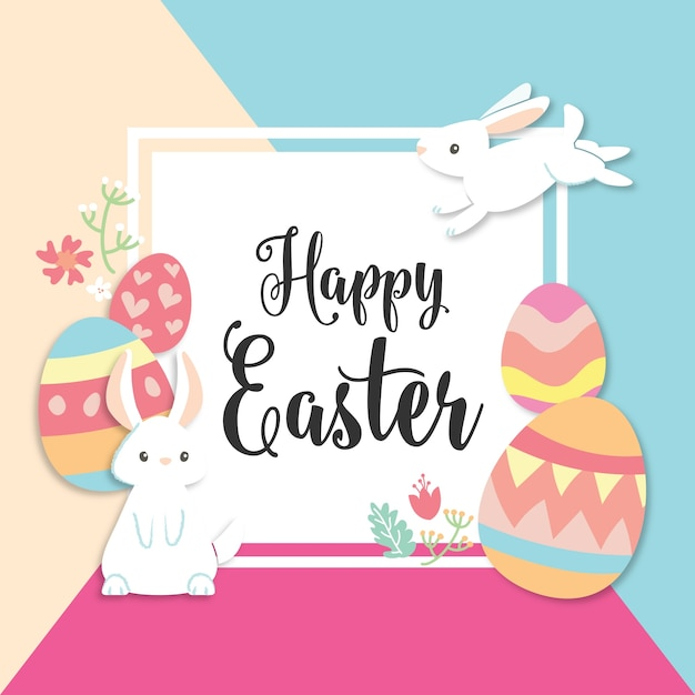 Happy easter greeting card Vector – Happy Easter Card