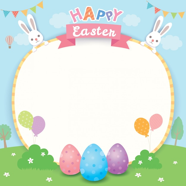 Happy easter card Premium Vector