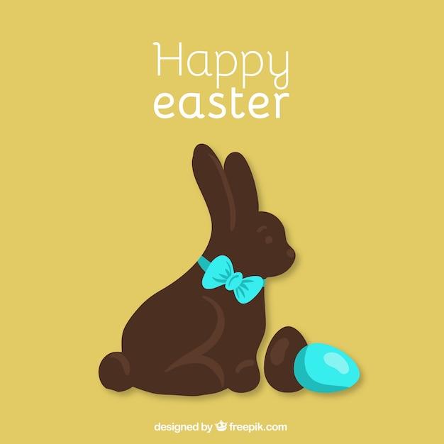 Happy Easter chocolate bunny
