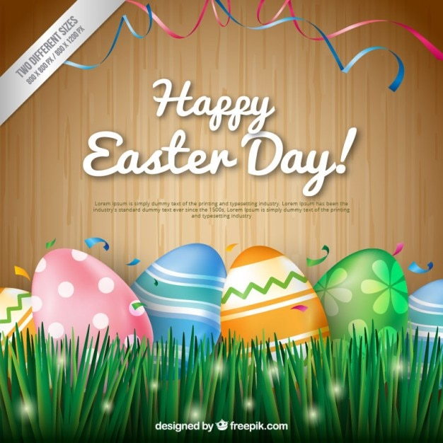 happy easter day background vector free download